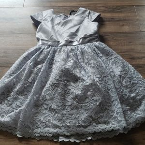 Silver Girls Flower Girl / Holiday dress